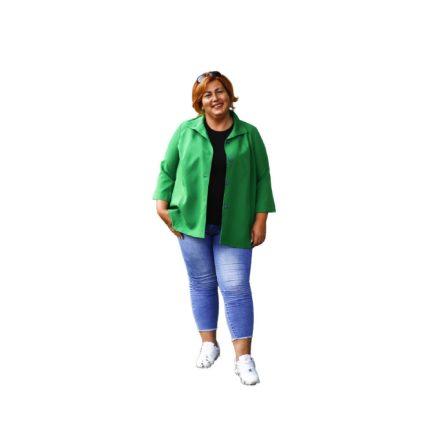 Bigy vékony zöld kabát