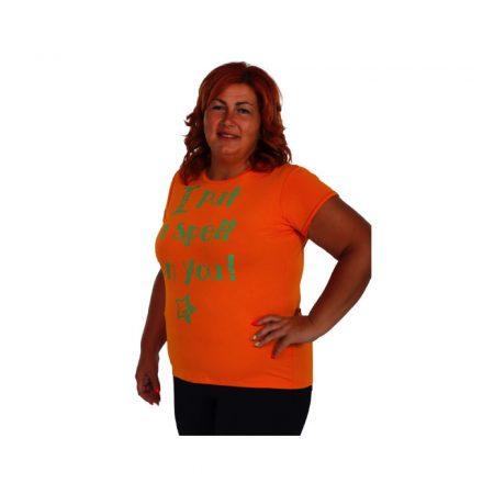 """Bigy narancssárga póló felirattal """"Tettem egy varázslatot rád"""""""