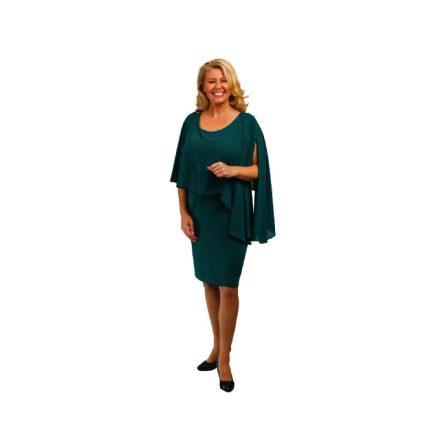 Bigy zöld muszlin felső részű alkalmi ruha 44