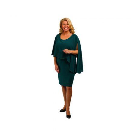 Bigy zöld muszlin felső részű alkalmi ruha