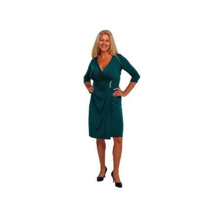 Bigy zöld rövid köves alkalmi ruha 44