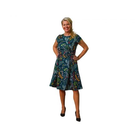 Bigy zöld virágos ruha 50