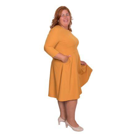 Bigy mustárszínű zsebes ruha