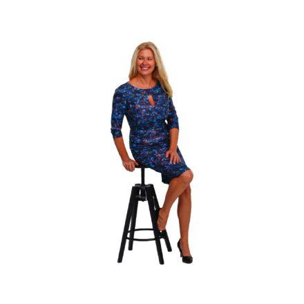 Bigy kék mintás ruha 40