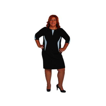 Bigy fekete ruha világoskék betéttel/4 ujjú