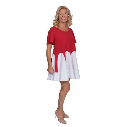 Bigy piros fehér loknis ruha