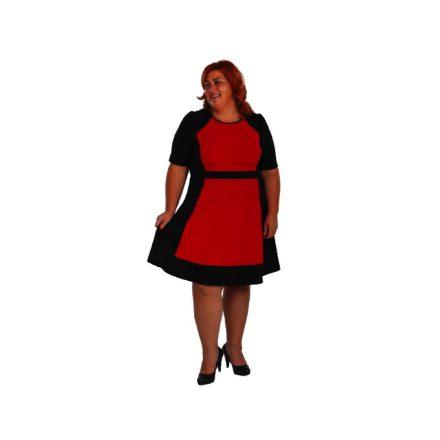 Bigy fekete-piros loknis aljú ruha
