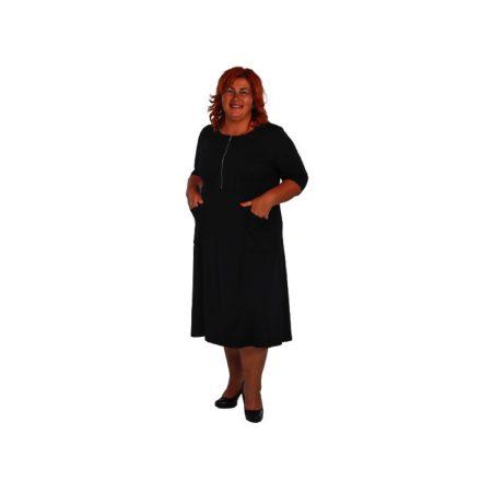 Bigy fekete 3/4 ujjú vastagabb pamut ruha 40