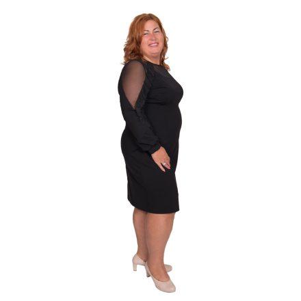 Bigy fekete ruha vállánál fodros 52