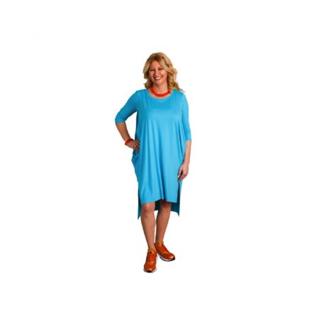 Bigy türkiz pamut ruha 42