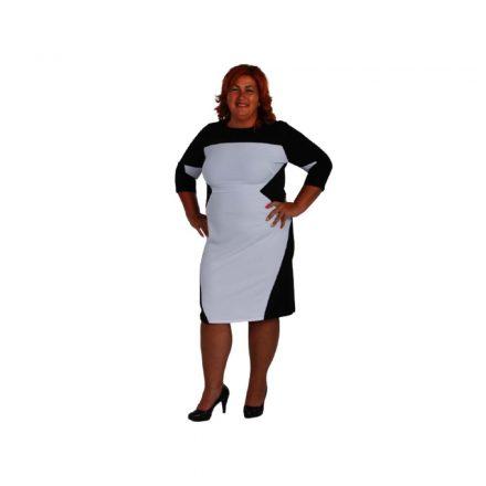 Bigy fekete fehér 3/4 ujjú ruha 44