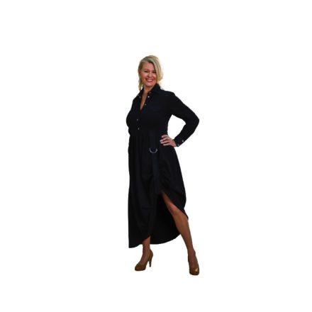 Bigy hosszú fekete ruha oldalt visszaköthető