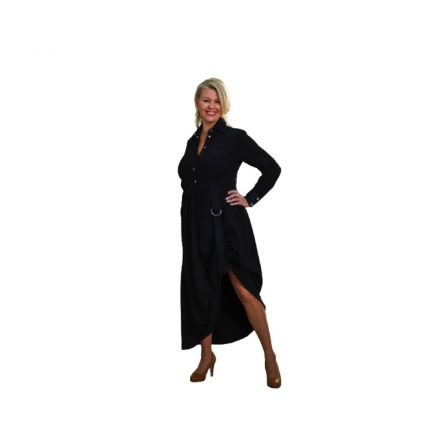 Bigy hosszú fekete ruha oldalt visszaköthető 50