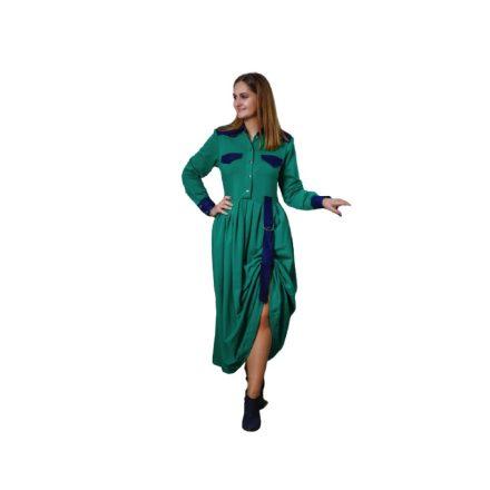 Bigy hosszú zöld ruha oldalt visszaköthető