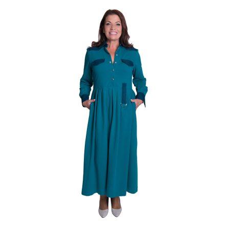 Bigy hosszú türkiz ruha oldalt visszaköthető