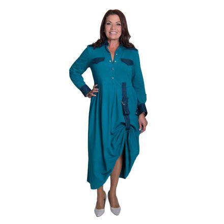 Bigy hosszú türkiz ruha oldalt visszaköthető 54