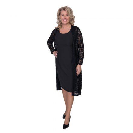 Bigy fekete ujjatlan ruha csipke kabáttal 42