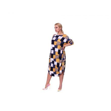Taffi kék fehér sárga kockás ruha