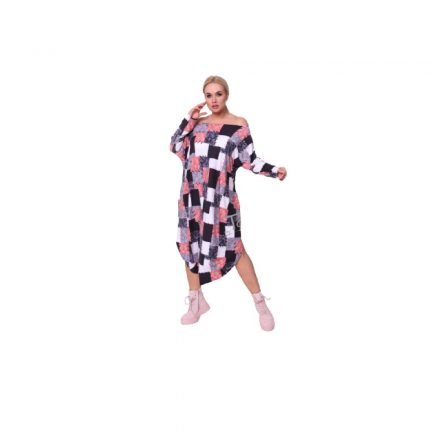Taffi rózsaszín fehér szürke kockás ruha 38-50