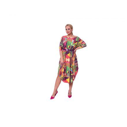 Taffi geometriai mintás színes ruha 38-50