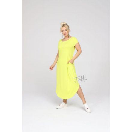 Sárga hosszú pamut sárga ruha
