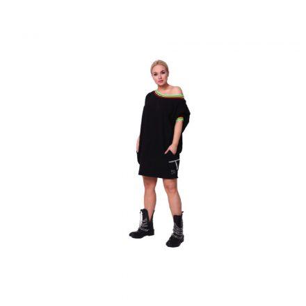 Taffi fekete színű vállkidobós tunika