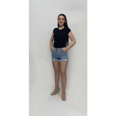 Dressforyou kék rolytos szárú rövidnadrág