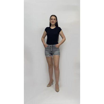 Dressforyou szürke rolytos szárú rövidnadrág