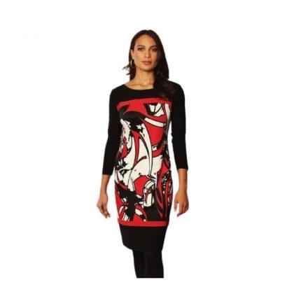Michaela Louisa fekete-piros ruha 9163