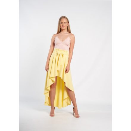 Envy hátul hoszzított kötős derekú sárga szoknya