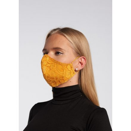 Envy okkersárga csipkés maszk
